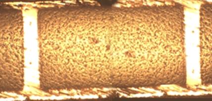 Closeup of Ceramic Direct Plated Copper